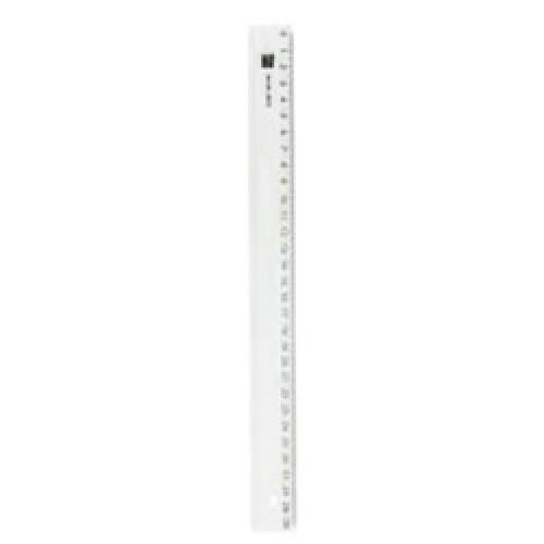Rigla plastic 30cm, transparenta - ALCO