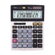 Calculator de birou 14 dgt, 3 taste de memorie, taste touch, alimentare duala - DELI 1671C