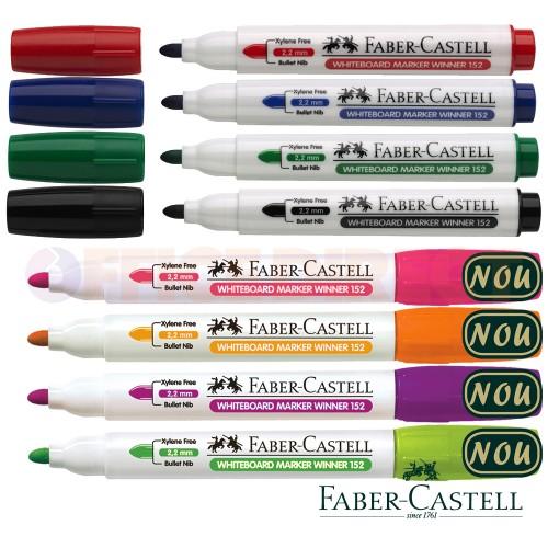Marker pentru whiteboard, varf rotund 2.2mm, color - FABER-CASTELL Winner 152