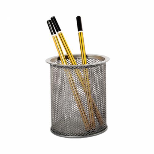 Suport instrumente de scris - pahar cilindric, plasa metalica tip Mesh - FORPUS