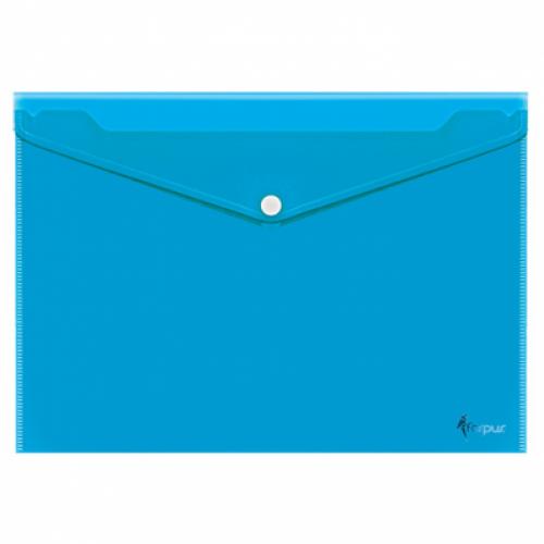 Mapa plastic plic A4 cu capsa (buton), translucid color - FORPUS Crystal