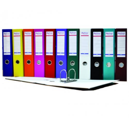 Biblioraft A4 plastifiat PP/H 50 mm, color ( 12 culori ) - OPTIMA