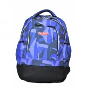 Rucsac cu 2 compartimente, compartiment pentru laptop (43,5x33x19.55 cm) - HERLITZ Java (motiv Blue Art)