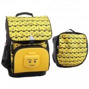 Ghiozdan ergonomic scolar Optimo + sac sport - LEGO Core Line (design Minifigures Heads)