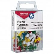 Pioneze panou pluta, culori asortate,  25 buc/cutie plastic - OFFICE PRODUCTS