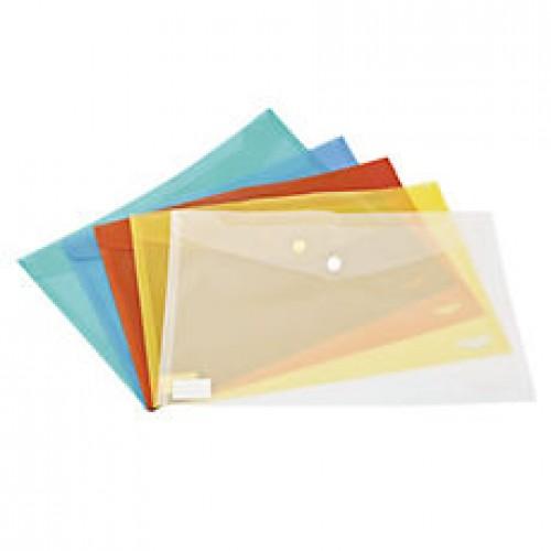 Mapa plastic plic A4 cu capsa (buton), color  - NOKI