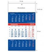 "Calendar triptic de perete 2021 "" UNICART"