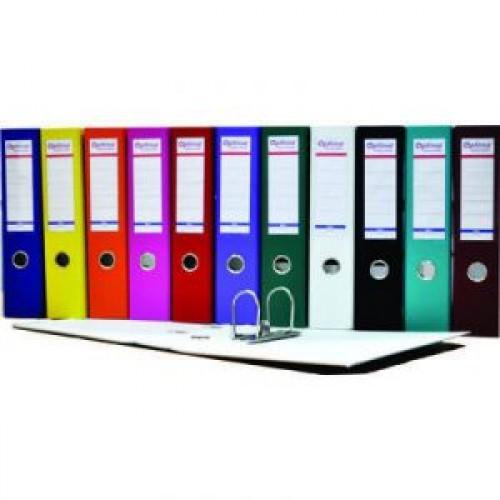 Biblioraft A4 plastifiat PP/H 75 mm, color ( 12 culori ) - OPTIMA
