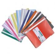 Dosar plastic A4 cu sina, 2 perforatii, diverse culori - EXXO