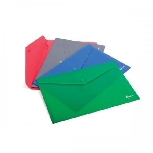 Mapa plastic plic A4 cu capsa (buton), color mat - FORPUS Premier