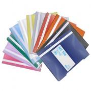 Dosar plastic A4 cu sina, 2 perforatii, diverse culori,  100 buc//set - JETFILE