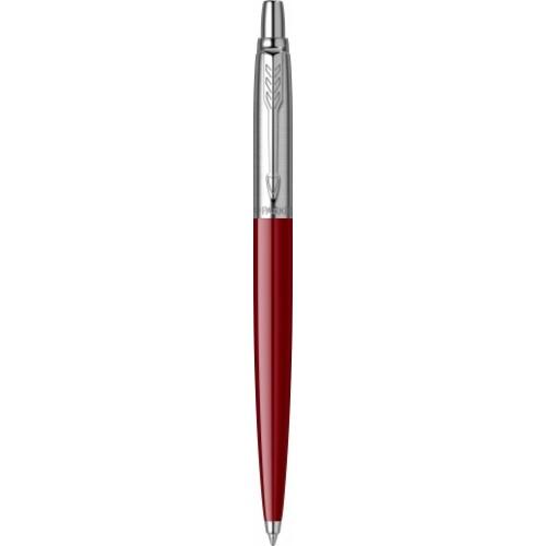 Pix cu mecanism, metalic argintiu / plastic rosu, accesorii metalice - PARKER Jotter Standard Red