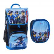 Ghiozdan ergonomic scolar Mxi + sac sport - LEGO Core Line (design City Police Chopper)