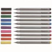 Liner cu cerneala, plastic gri, grip, varf fin 0.4mm, color ( 20 culori ) - FABER-CASTELL Grip