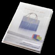 Mapa (folie) protectie documente A4 transparenta - 200 microni, cu burduf si eticheta, 3 buc/set - LEITZ Combi File Jumbo