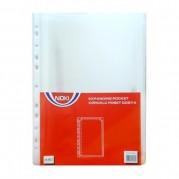 Folie protectie documente A4 - 170 microni, cu burduf 25mm, 25 buc/set - NOKI