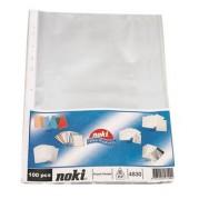"Folie protectie documente A4 ""standard"" - 45 microni, 100 buc/set - NOKI"