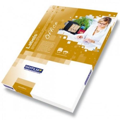 Etichete autoadezive albe mate, colturi drepte, 100 coli/top, 1/A3 – RAYFILM Office (Premium)
